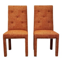 Pair of Midcentury Dorothy Draper Style Upholstered Chairs
