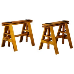 Pair of Midcentury Easels for Leonardo Table by Achille Castiglioni for Zanotta