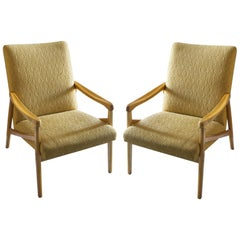 Pair of Midcentury Eastern Block Armchairs by Jiri Jiroutek for Interier Praha