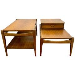 Pair of Midcentury End Tables Teak Nightstands