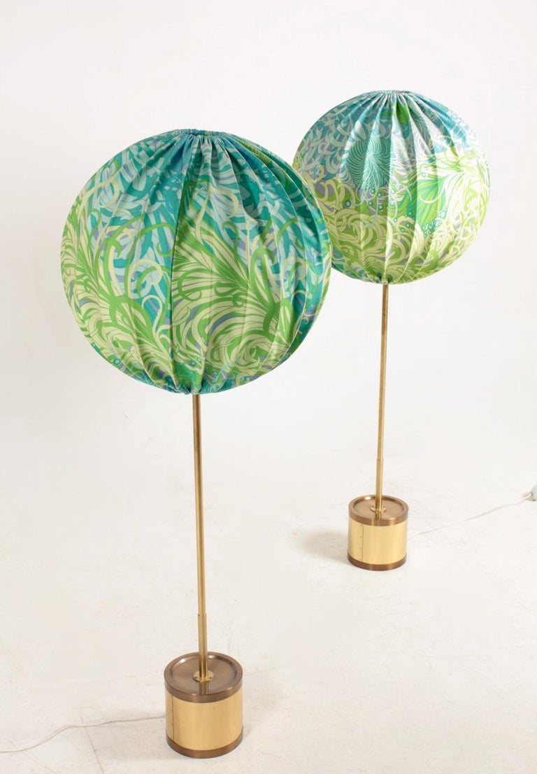 Pair of floor lamps designed by Hans Agne Jacobsson and made for AB Markaryd. Great original condition.