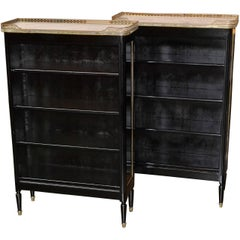 Pair of Midcentury French Jansen Bookcases