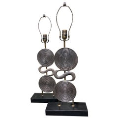 Pair of Midcentury French Lamp Bases