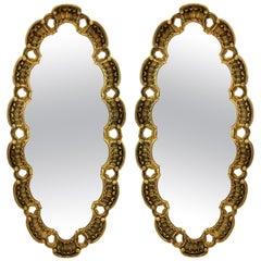 Pair of Midcentury Giltwood Mirrors