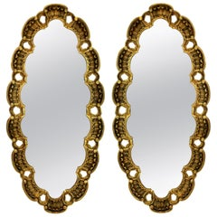 Pair of Midcentury Giltwood Mirrors