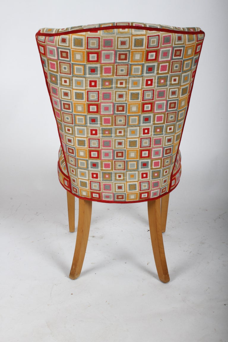 Pair of Midcentury High Back Dining or Occasional Chairs For Sale 4