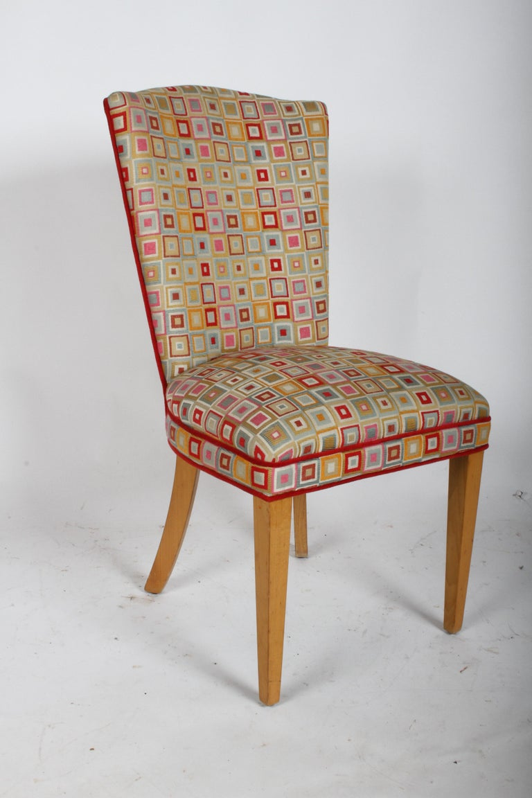 Mid-Century Modern Pair of Midcentury High Back Dining or Occasional Chairs For Sale