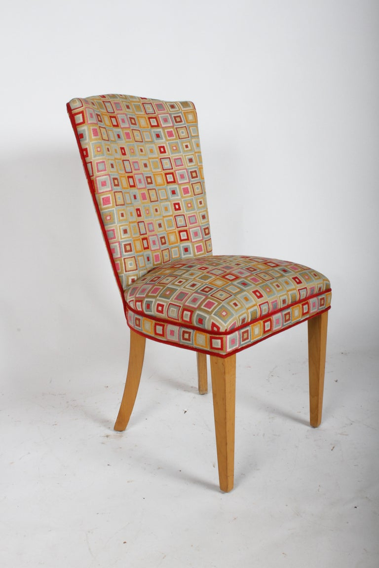 Mid-20th Century Pair of Midcentury High Back Dining or Occasional Chairs For Sale