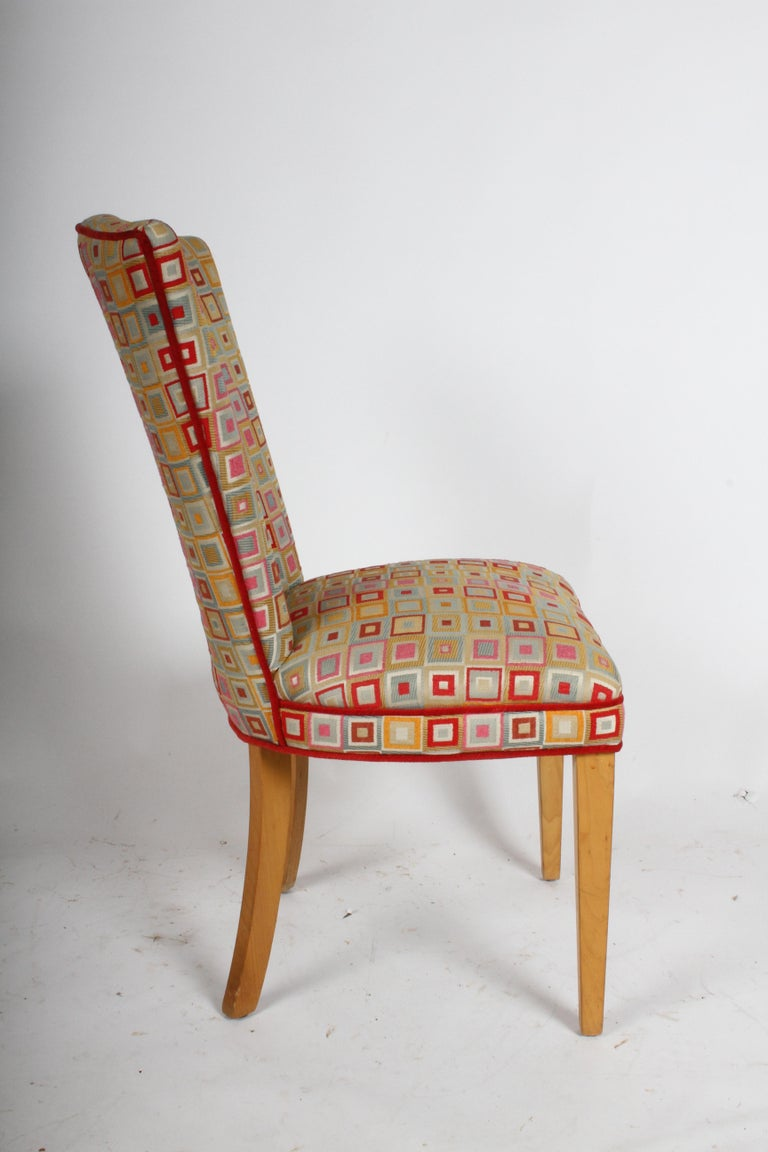 Pair of Midcentury High Back Dining or Occasional Chairs For Sale 2