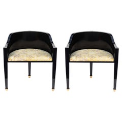 Pair of Midcentury Hollywood Regency Style Chairs