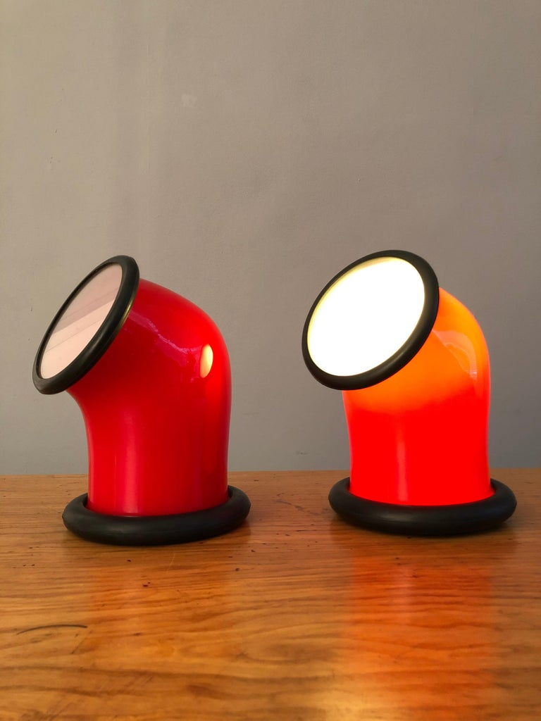 Pair of Midcentury Holmegaard Lamps by Michael Bang, 1972 In Good Condition For Sale In London, GB