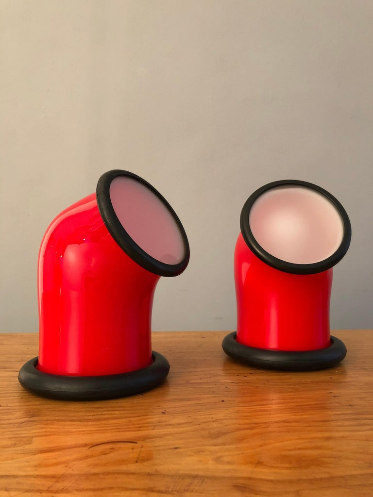 20th Century Pair of Midcentury Holmegaard Lamps by Michael Bang, 1972 For Sale