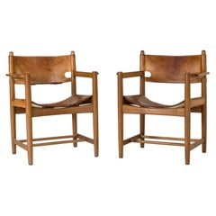 Pair of Midcentury Hunting Chairs by Børge Mogensen