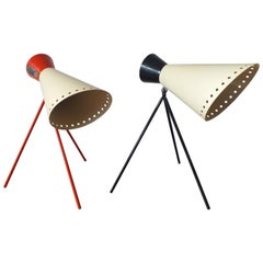 Pair of Midcentury Iconic Table Lamps Napako, Designed by Josef Hurka, 1960s