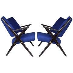 Pair of Midcentury Italian Armchairs by Dal Vera, 1950s