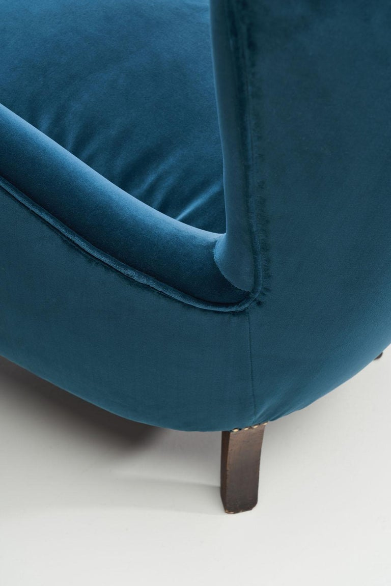 Pair of Midcentury Italian Armchairs, Italy, 1950s For Sale 4