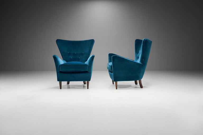 Mid-Century Modern Pair of Midcentury Italian Armchairs, Italy, 1950s For Sale