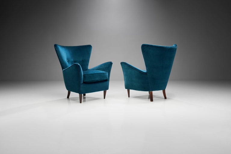 Pair of Midcentury Italian Armchairs, Italy, 1950s In Good Condition For Sale In Utrecht, NL