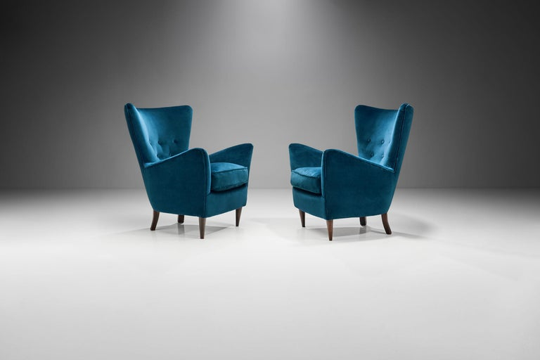 Mid-20th Century Pair of Midcentury Italian Armchairs, Italy, 1950s For Sale
