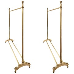 Pair of Midcentury Italian Brass Coat/Clothes Rack Stand