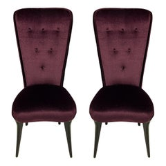 Pair of Midcentury Italian Hall Chairs