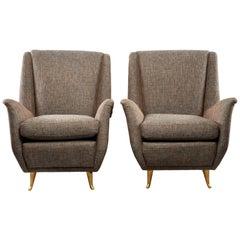 Pair of Midcentury Italian Paolo Buffo Style Armchairs
