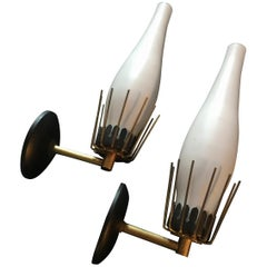 Pair of Midcentury Italian Sconces from Arredoluce Monza, 1950s