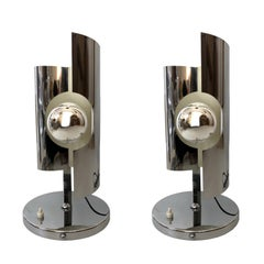 Pair of Midcentury Italian Space age Table Lamps, 1970s