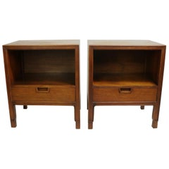 Pair of Mid Century Janus Night Tables for John Widdicomb