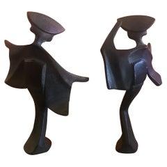 Pair of Midcentury Japanese Geisha Figurines