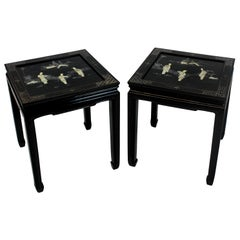 Pair of Midcentury Japanned Side Tables