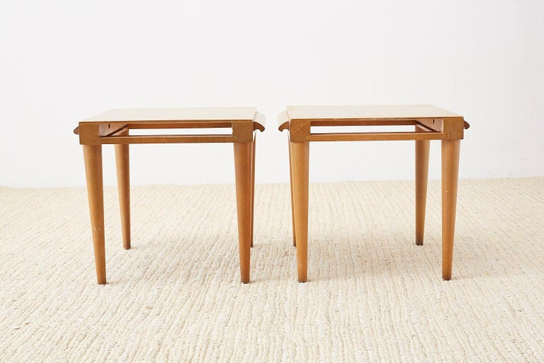 Pair of Midcentury John Keal for Brown Saltman Drink Tables For Sale 7