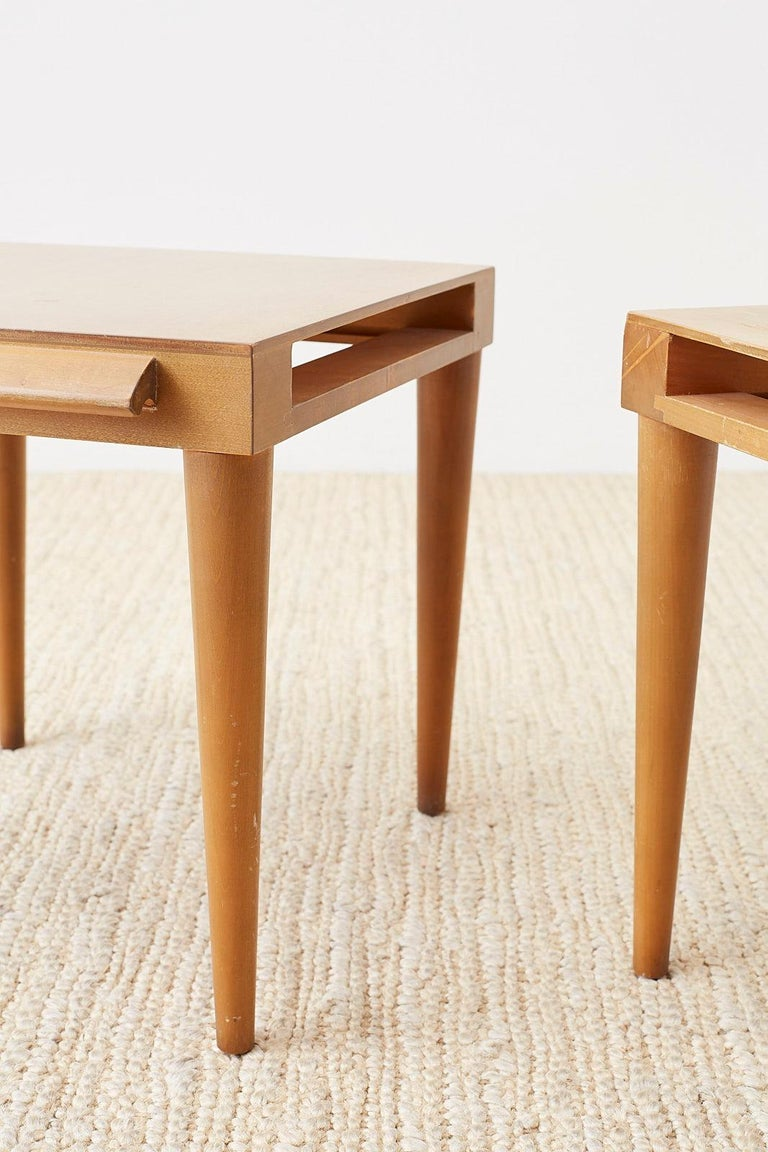 Pair of Midcentury John Keal for Brown Saltman Drink Tables For Sale 9