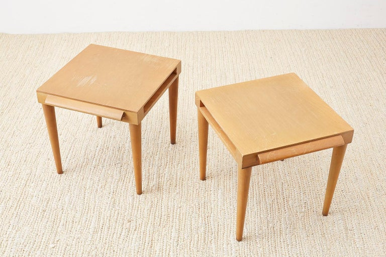 Pair of Midcentury John Keal for Brown Saltman Drink Tables For Sale 10