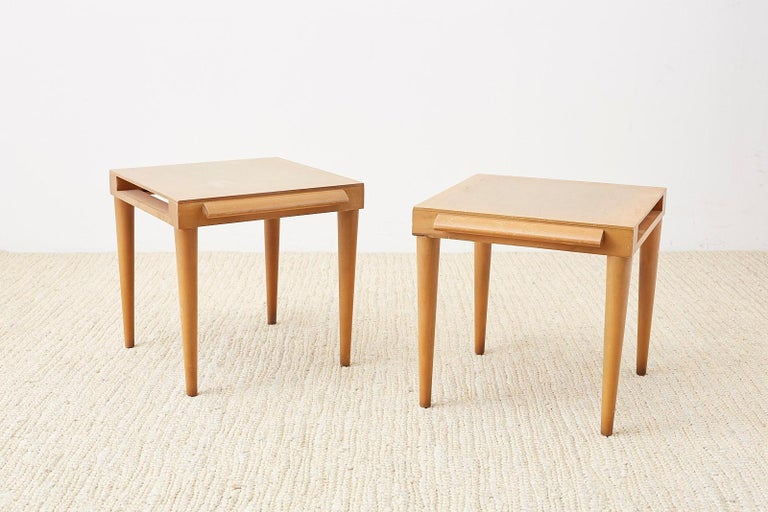 Pair of Midcentury John Keal for Brown Saltman Drink Tables For Sale 1