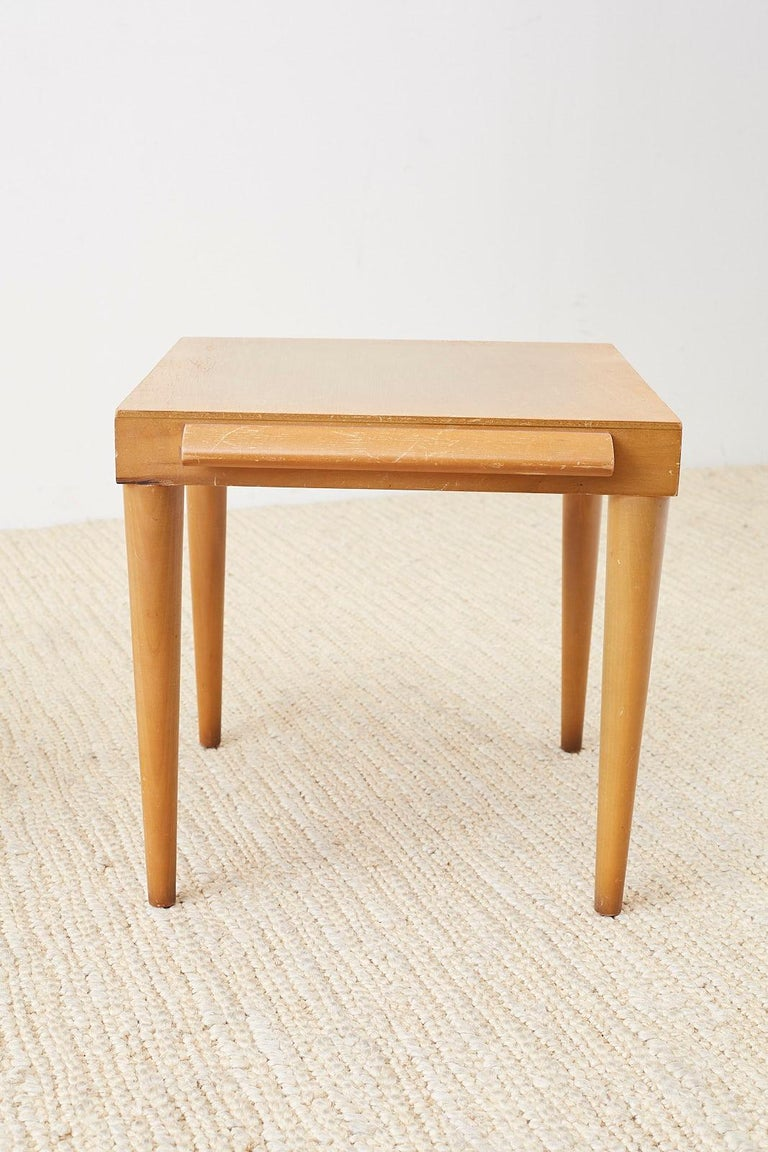 Pair of Midcentury John Keal for Brown Saltman Drink Tables For Sale 3
