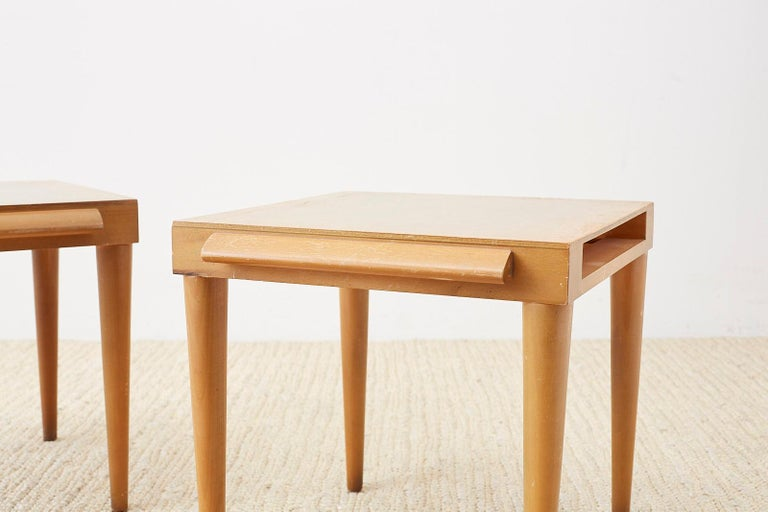 Pair of Midcentury John Keal for Brown Saltman Drink Tables For Sale 4