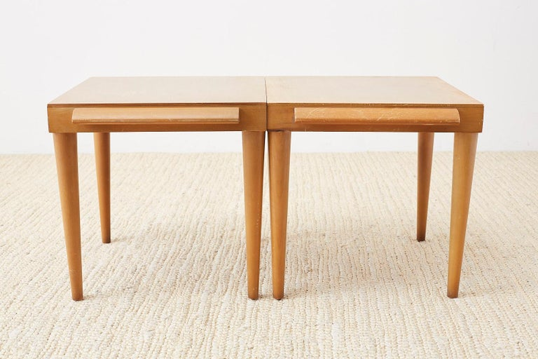 Pair of Midcentury John Keal for Brown Saltman Drink Tables For Sale 5
