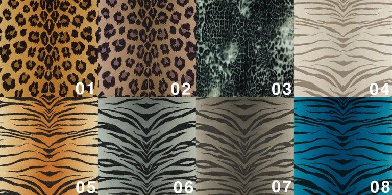 Pair of Midcentury Leopard Print Velvet Dante Armchairs, H. Lis, 1960s For Sale 6