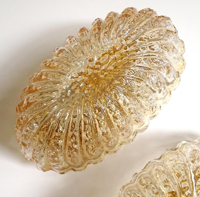 Pair of Midcentury Limburg Flower Floral Glass Vanity Mirror Sconces, 1960s For Sale 7