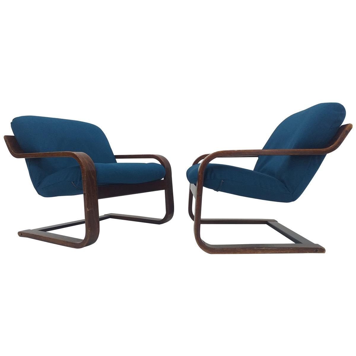 Pair of Midcentury Lounge Armchairs Westnofa, Norway, 1970s