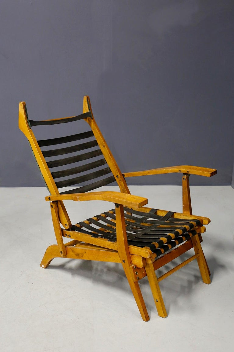 Pair of Midcentury Lounge Chairs Attributed to Studio BBPR from 1950s For Sale 8