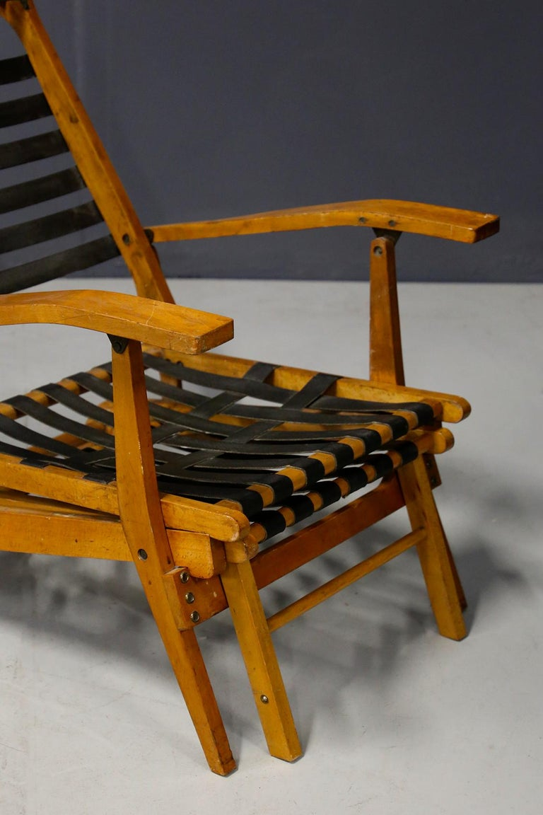Fabric Pair of Midcentury Lounge Chairs Attributed to Studio BBPR from 1950s For Sale