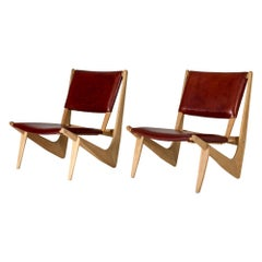 Pair of Midcentury Lounge Chairs by Bertil W. Behrman