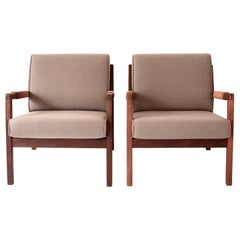 Pair of Midcentury Lounge Chairs by Carl Gustav Hiort af Ornäs, Finland