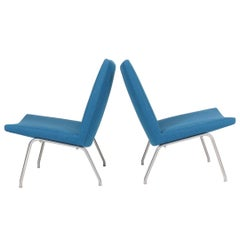 Pair of Midcentury Lounge Chairs by Hans Wegner, 1960s