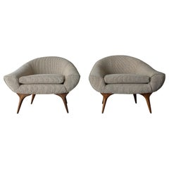 Pair of Midcentury Lounge Chairs by Karpen