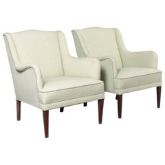 Pair of Midcentury Lounge Chairs in the Manner of Frits Henningsen, 1940s