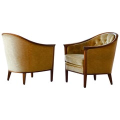 "Pair of Midcentury Lounge Chairs Model ""Aristokrat"" by Bertil Fridhagen"
