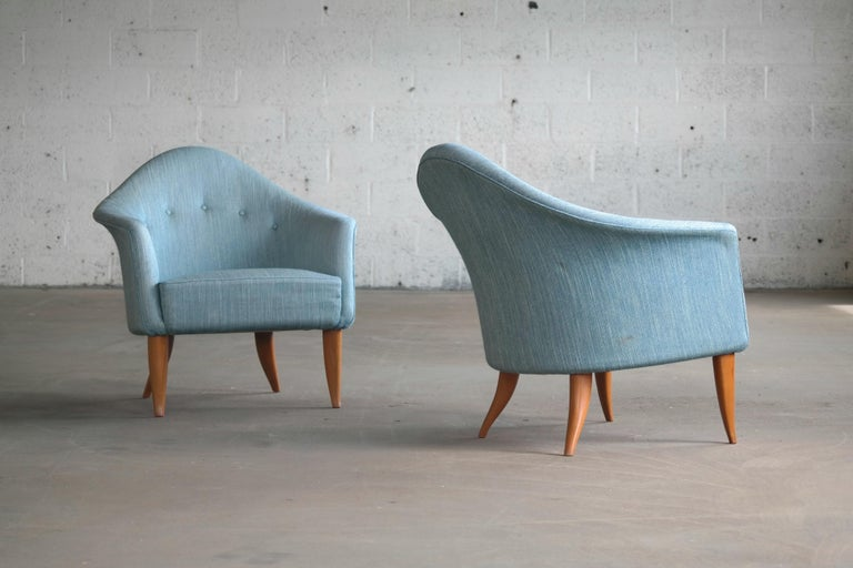 Pair of Midcentury Lounge Chairs Model